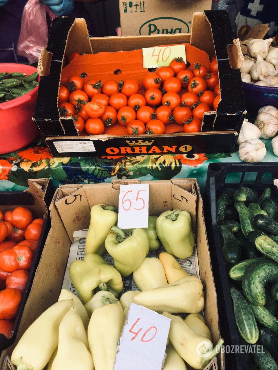 Сладкий перец на рынке обойдется в 40-65 гривен