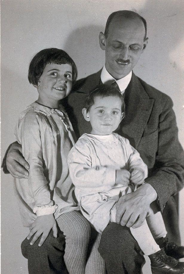 Отто Франк з доньками Ганною і Марго, серпень 1931 року