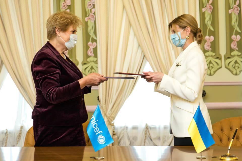 Елена Зеленская с представителем Детского фонда ООН в Украине
