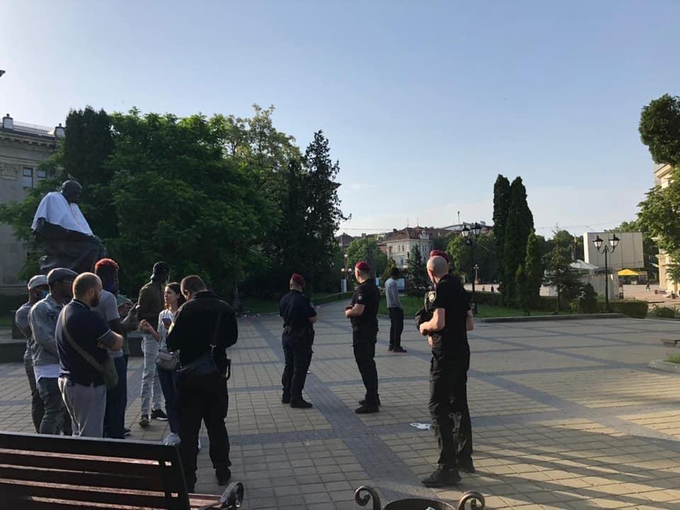 Акция в Тернополе