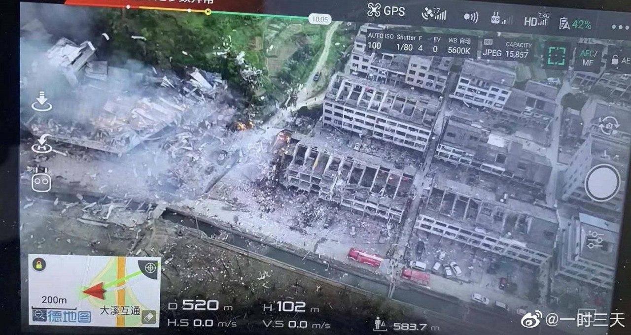 В Китае взорвался бензовоз и пролетел над домами: 19 погибших, более сотни пострадавших