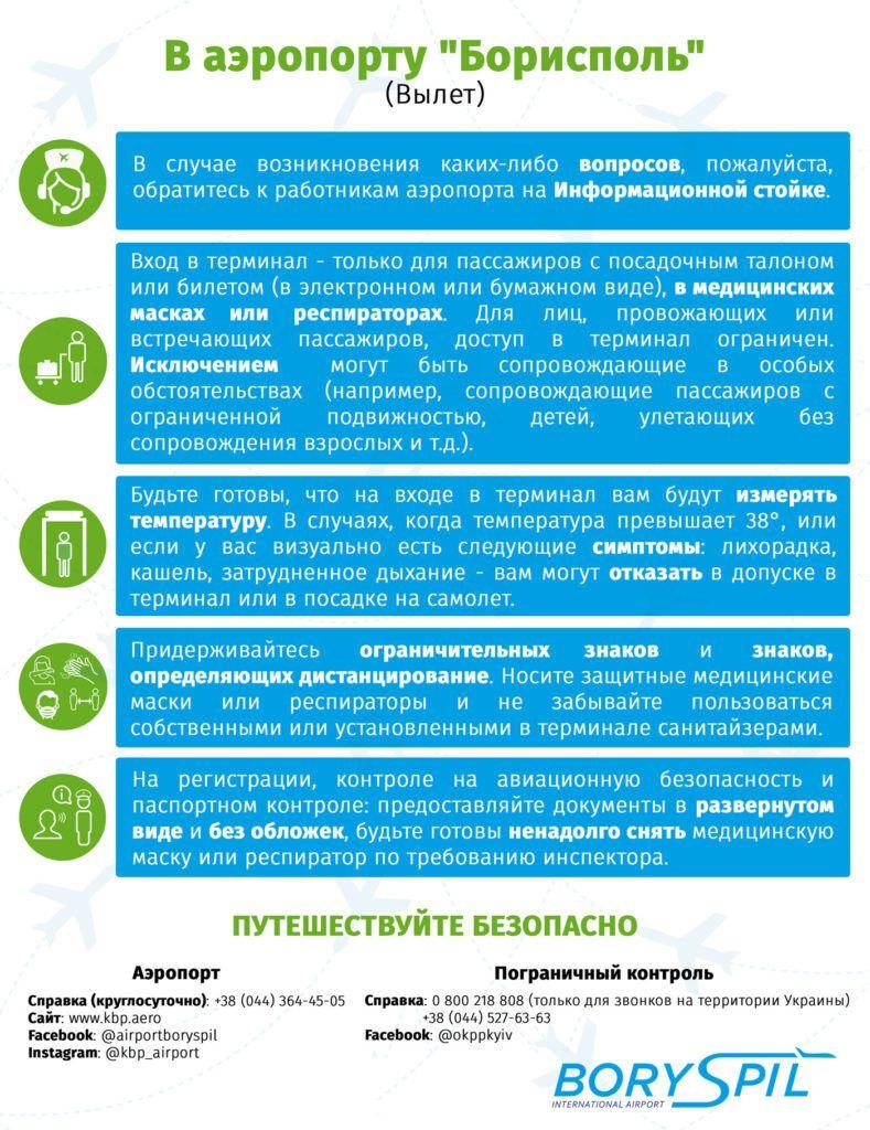 Борисполь ввел новые правила для пассажиров