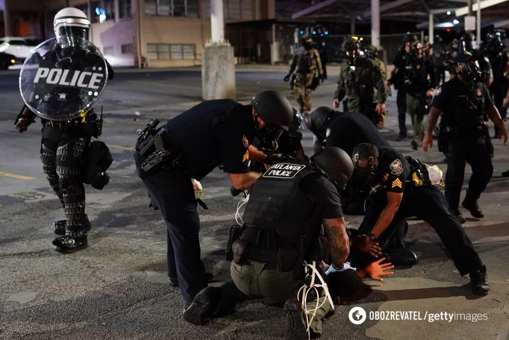 Протесты в Атланте