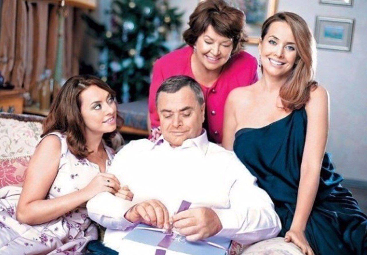 Жанна Фріске з батьками і сестрою Наталією