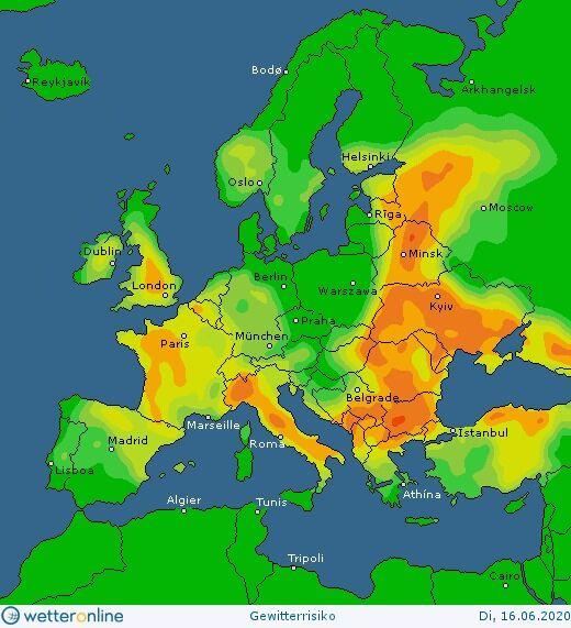 Карта погоды в Украине 16 июня