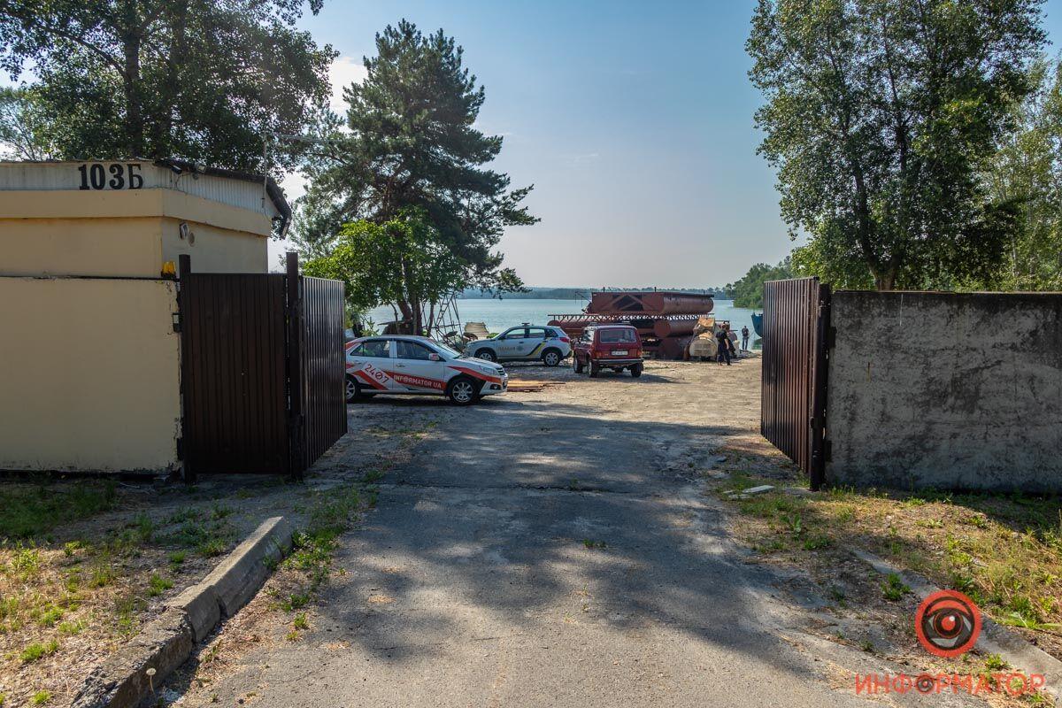 Лодочная станция, где нашли тело