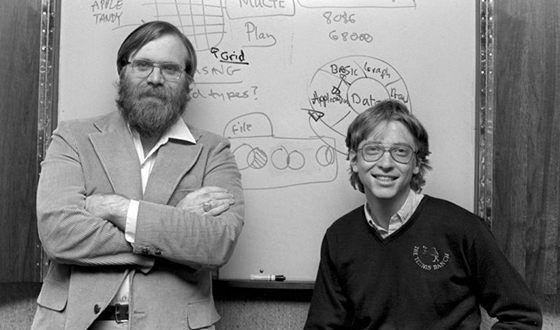 Білл Гейтс та Пол Аллен у молодості