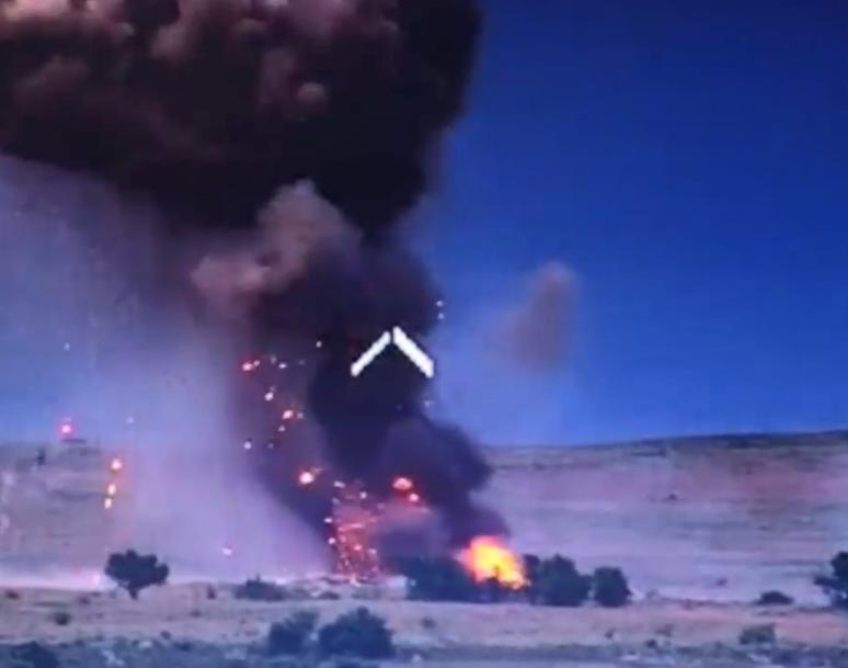 ВСУ взорвали склад боеприпасов террористов