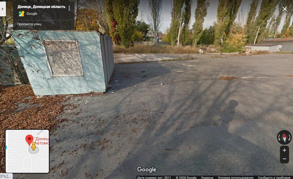 Место, сфотографированное Google в 2011 году