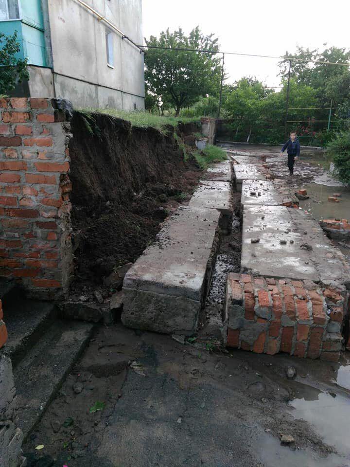 Руйнування через зливи