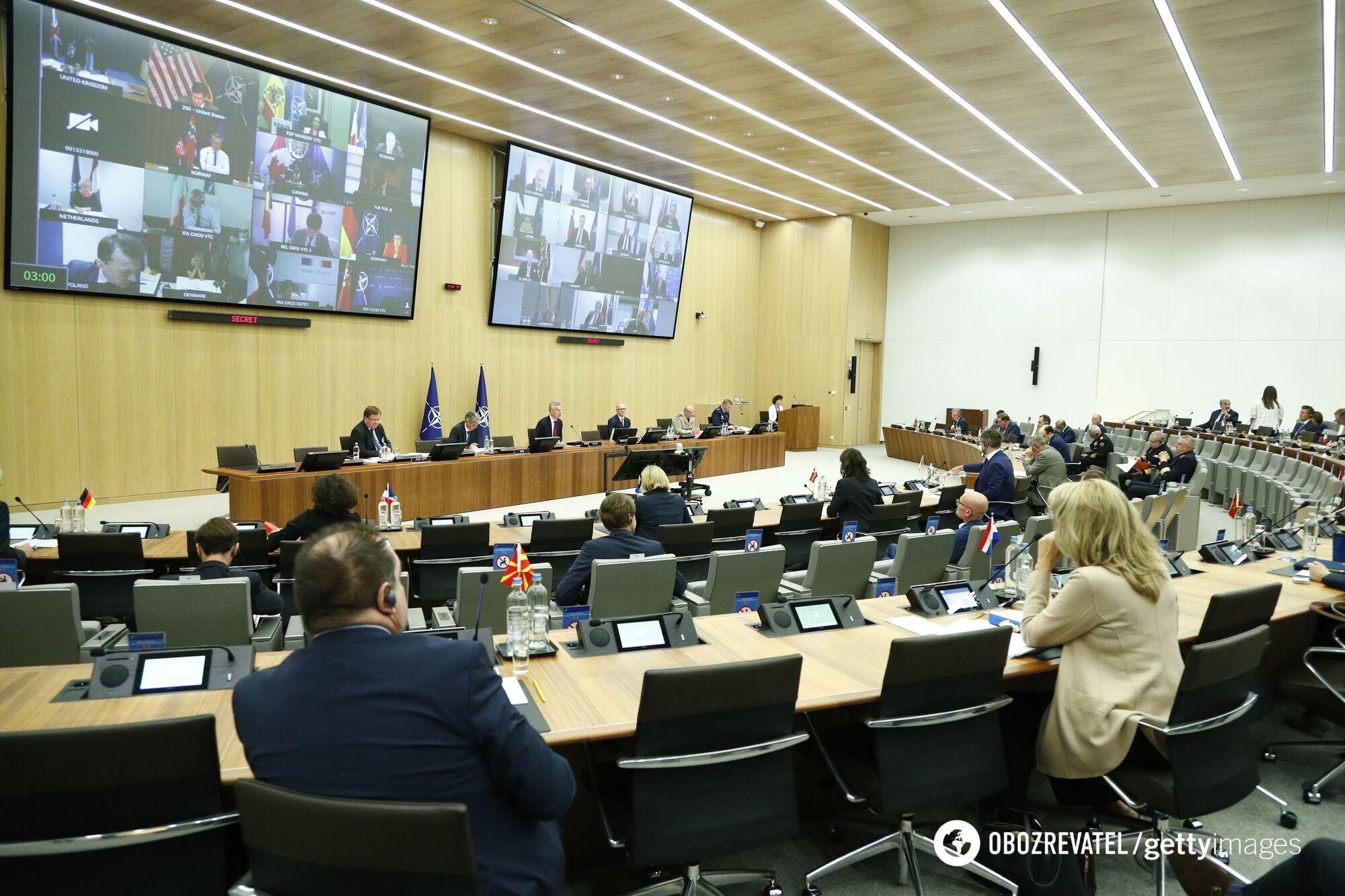 Заседание министров обороны стран-членов НАТО