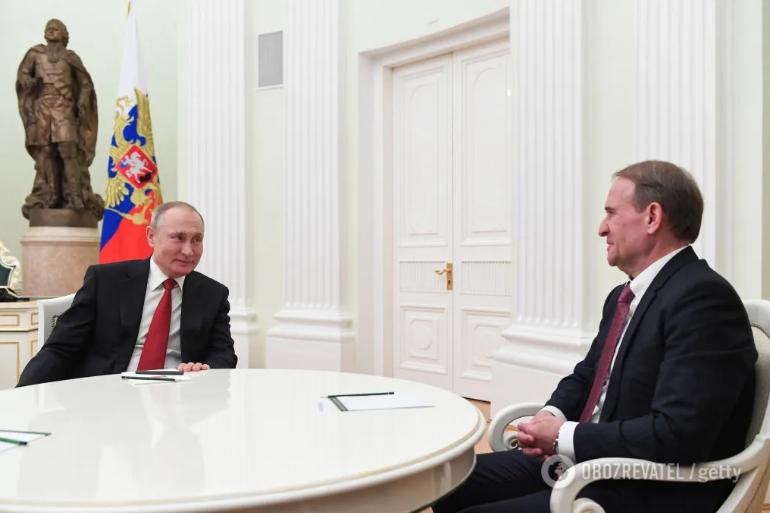 Путін і Медведчук у Кремлі