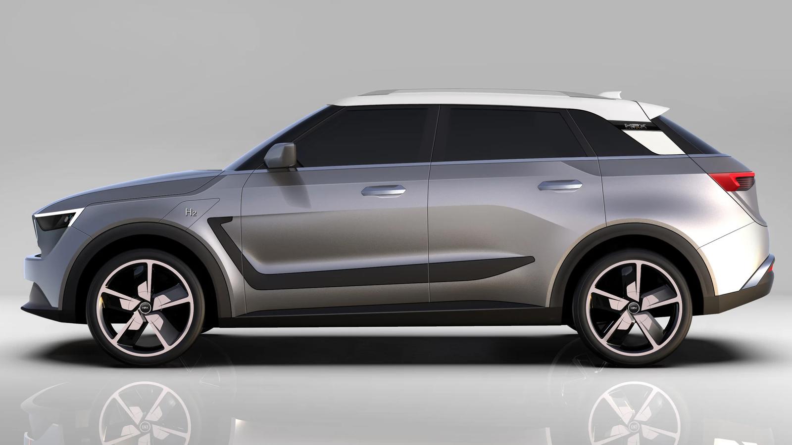 Водородный электромобиль H2X Snowy выглядит довольно нейтрально и ни на кого не похож