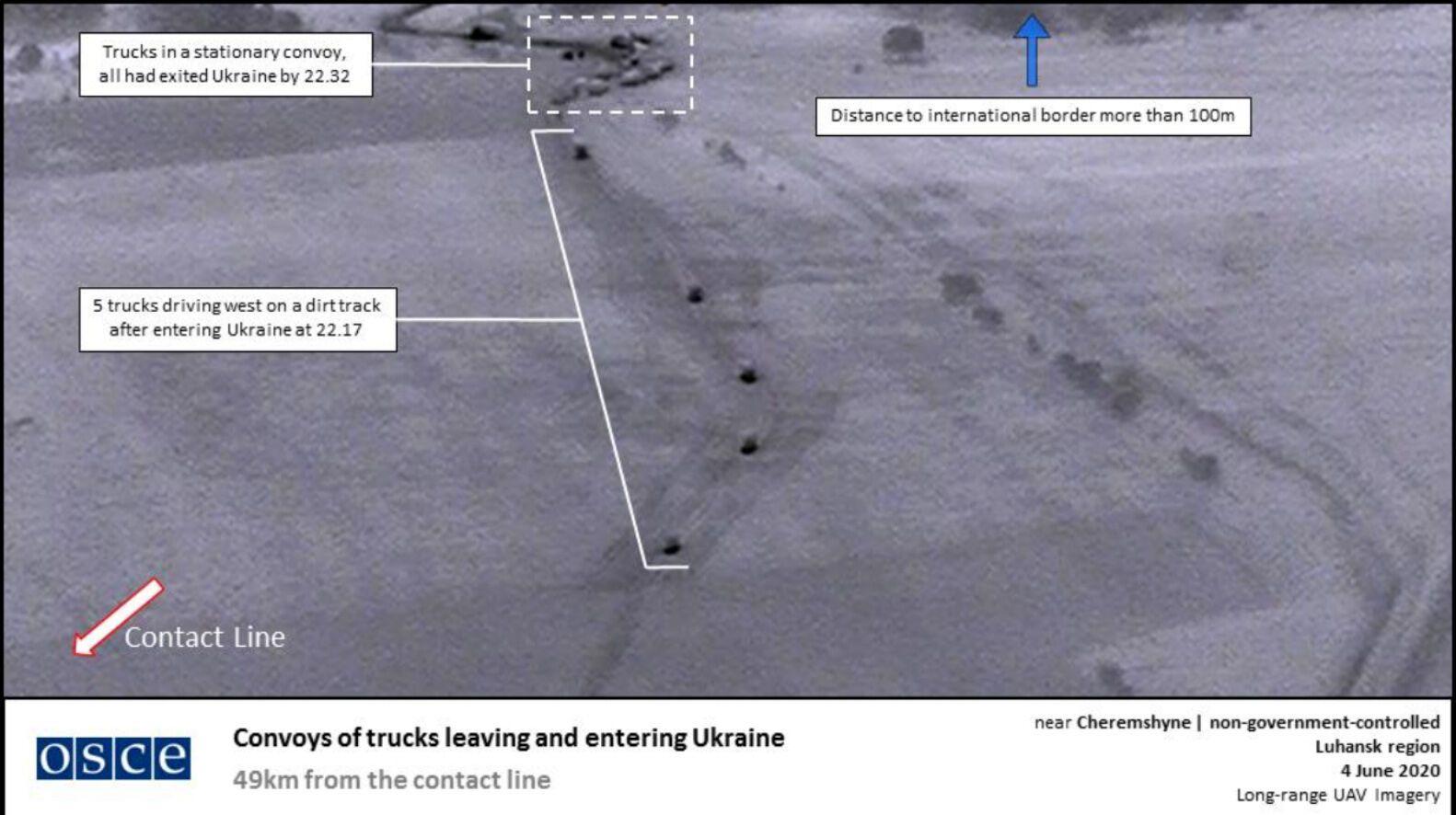 Снимки из БПЛА, подтверждающие переброс российской военной техники в Луганск