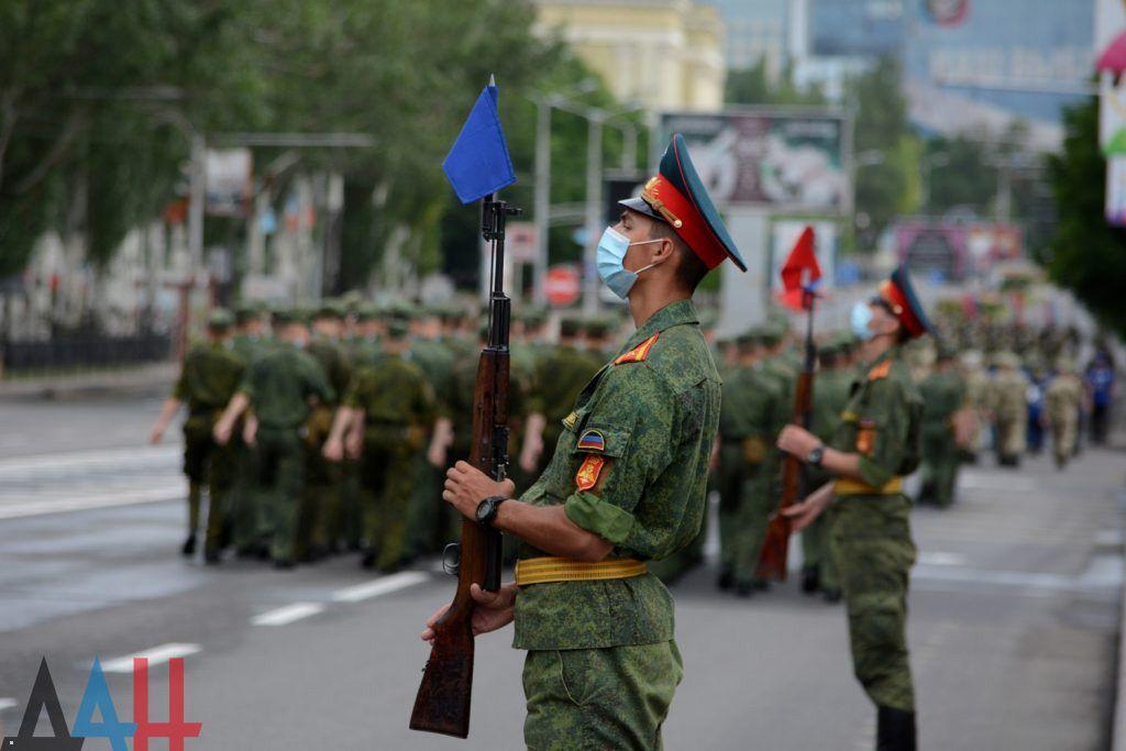 """Репетиция """"парада"""" в Донецке"""
