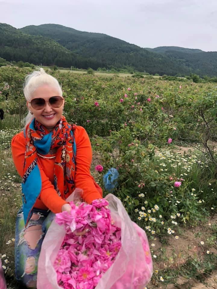 Катерина Бужинська на фестивалі троянд