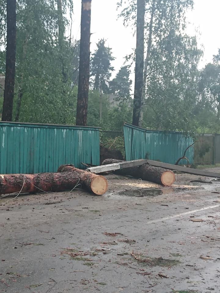 У Київській області пронісся потужний ураган