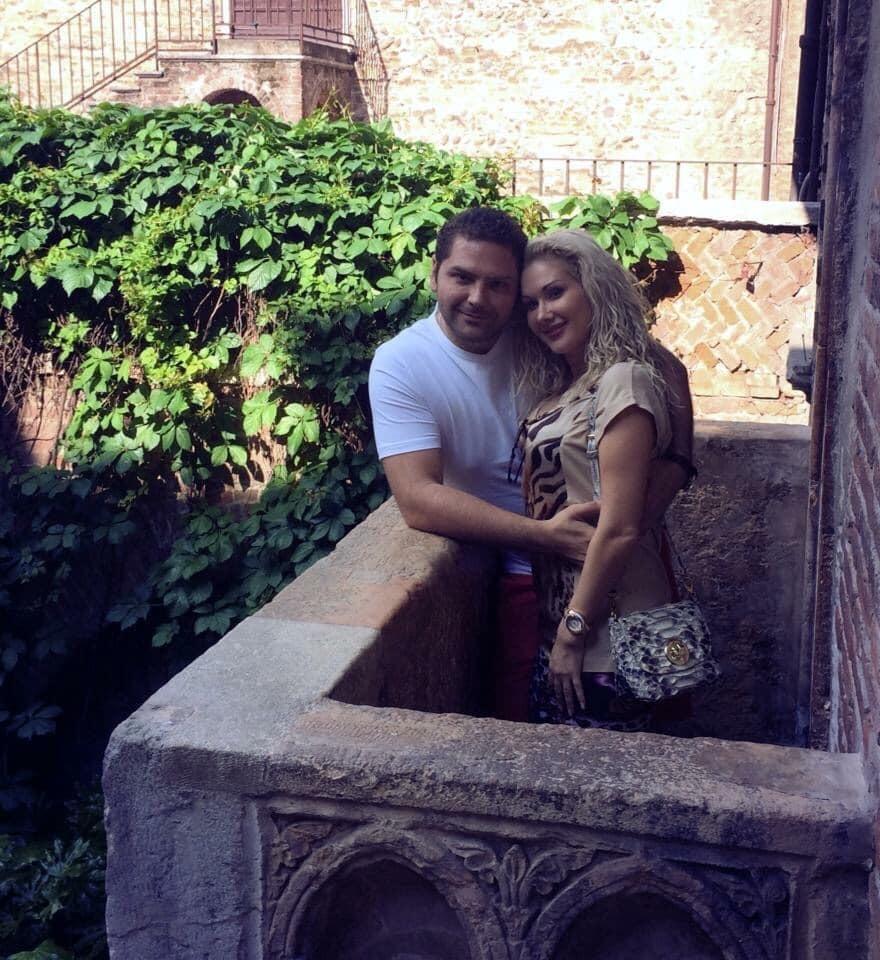 Катерина Бужинська з чоловіком Дімітаром в Італії