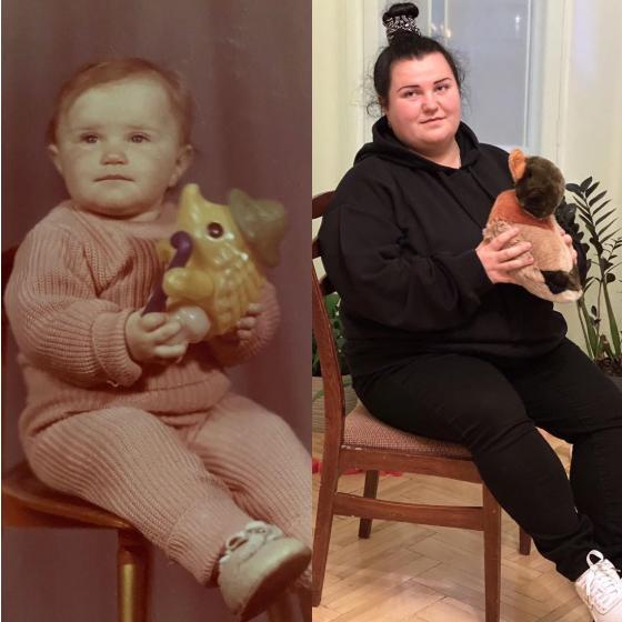 Алена Савраненко в детстве и сейчас