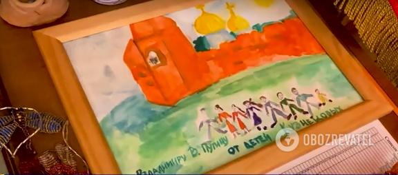 """Путин якобы хранит в своем """"бункере"""" детские рисунки"""