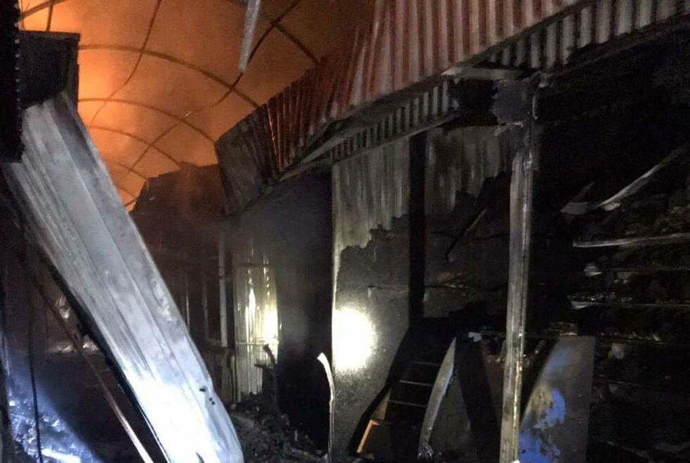 Пожар в Кривом Роге на Центральном рынке