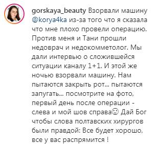 Реакция на инцидент Горской.