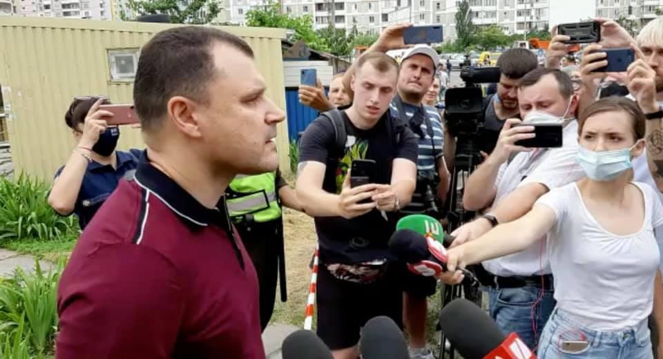 Игорь Клименко на месте трагедии