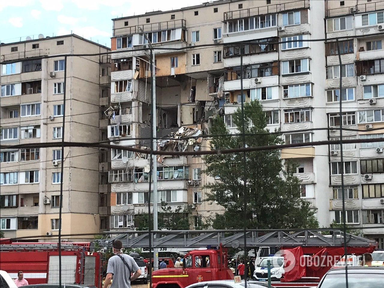 В Киеве произошел взрыв в 9-этажном доме