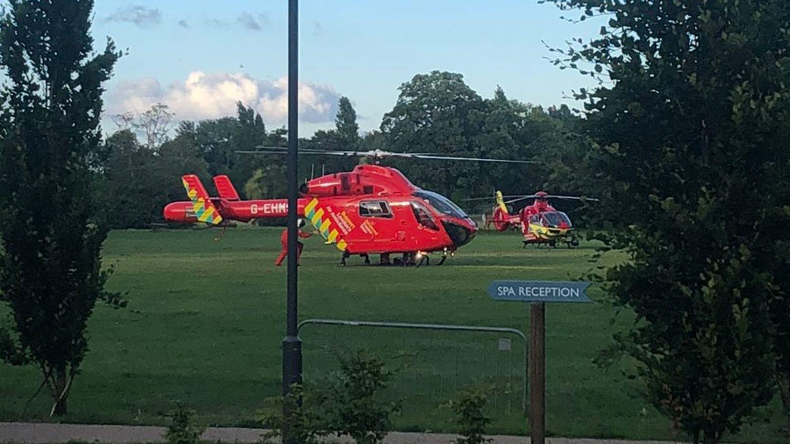 Потерпілих доставили до лікарні гелікоптерами