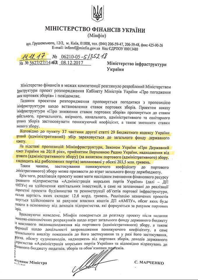 Из-за действий Омеляна госбюджет вроде недополучил 30,5 миллиона гривен