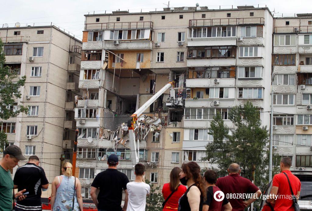 Вибух будинку в Києві