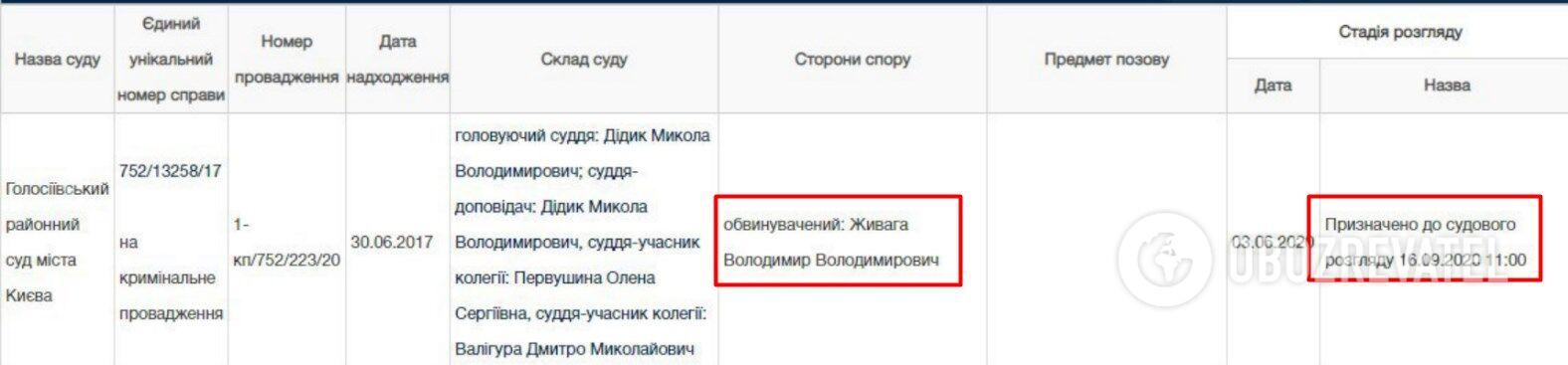 Владимир Живага предстанет пред еще одним судом