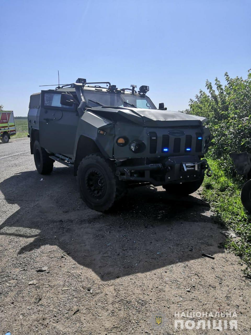 Под Харьковом произошла авария с колонной военных автомобилей. Источник фото - сайт ГУ Нацполиции в Харьковской области.