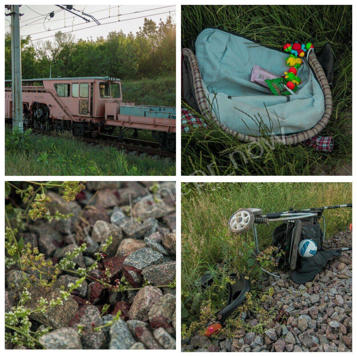 """В Днепре поезд сбил коляску с ребенком. Telegram-канал """"Х*вый Днепр"""""""
