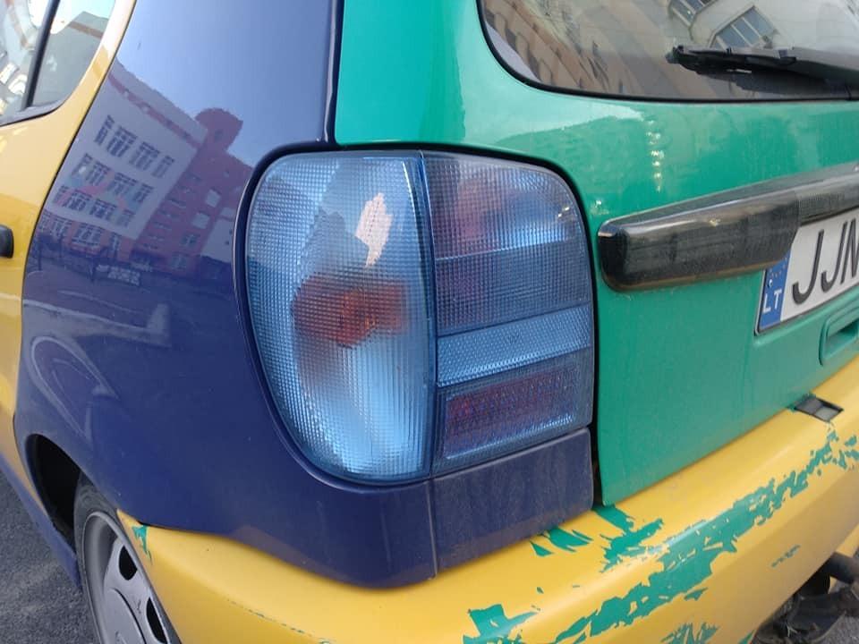 VW Polo III Harlekin на литовских номерах, замеченный в Украине.