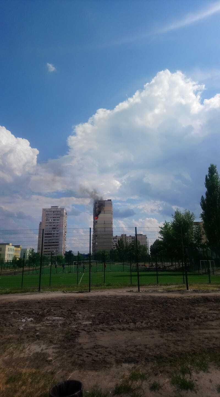 Пожар в доме на Крушельницкой