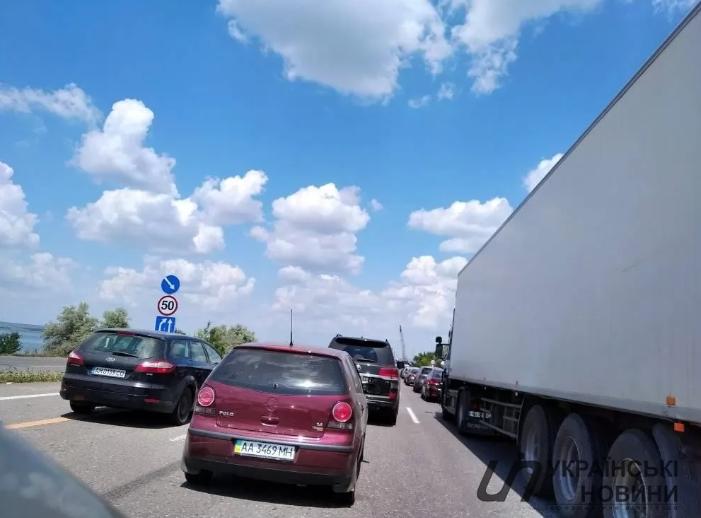 Пробка на дороге из Одессы