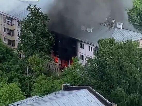 В Москве в жилом доме рванул газ и загорелись 4 квартиры