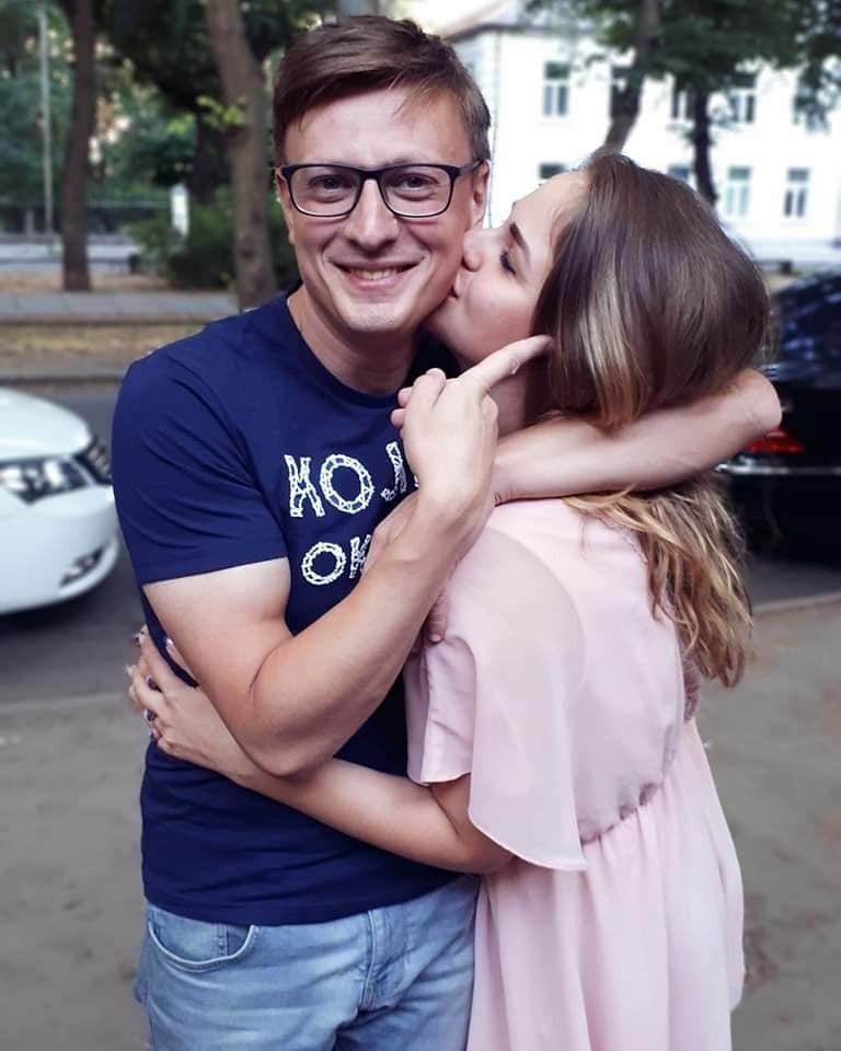 Олександра з чоловіком Вадимом