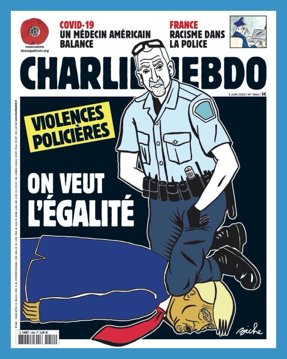 Трампа поместили на обложку скандального журнала Charlie Hebdo