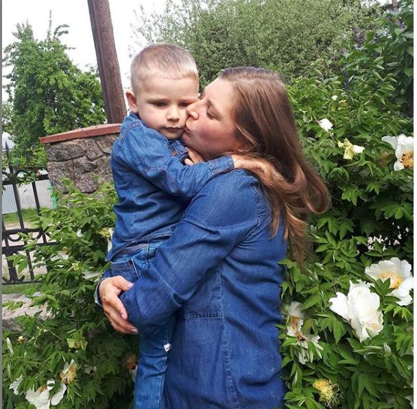 Світлана Риндюк із сином Арсеном