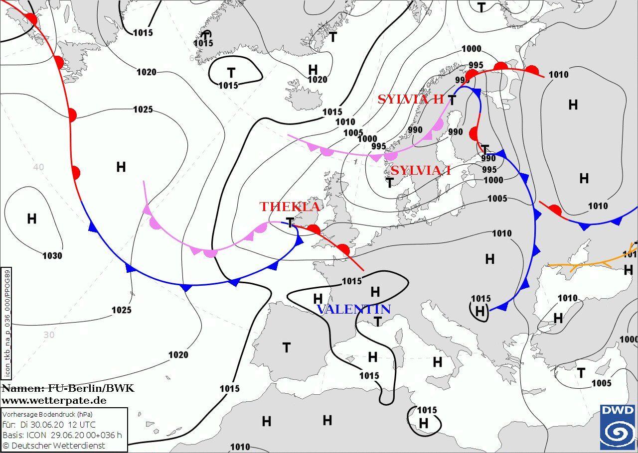 Погоду в Украине 1 июля обусловят циклоны с севера Европы