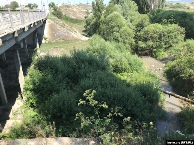 Пересихає річка Танасу в Білогірському районі Криму