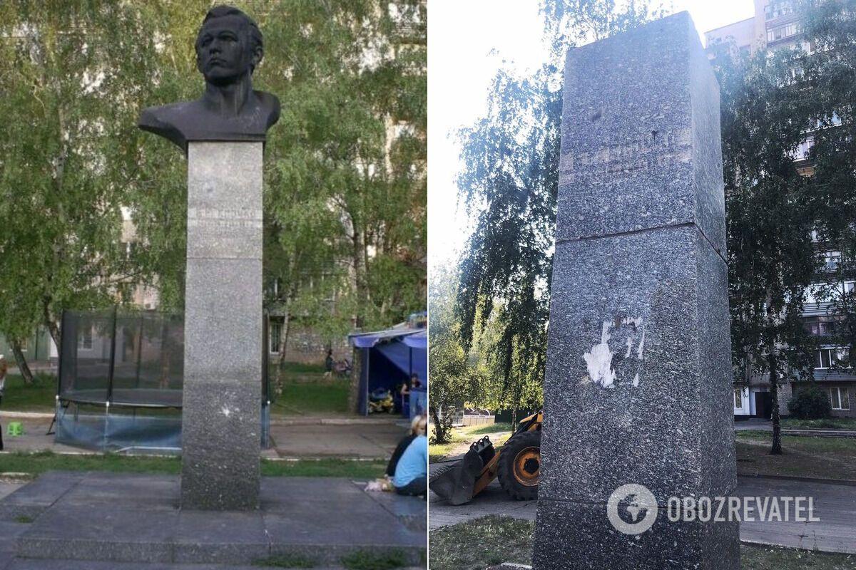 Вандализм в сквере на Калиновой в Днепре