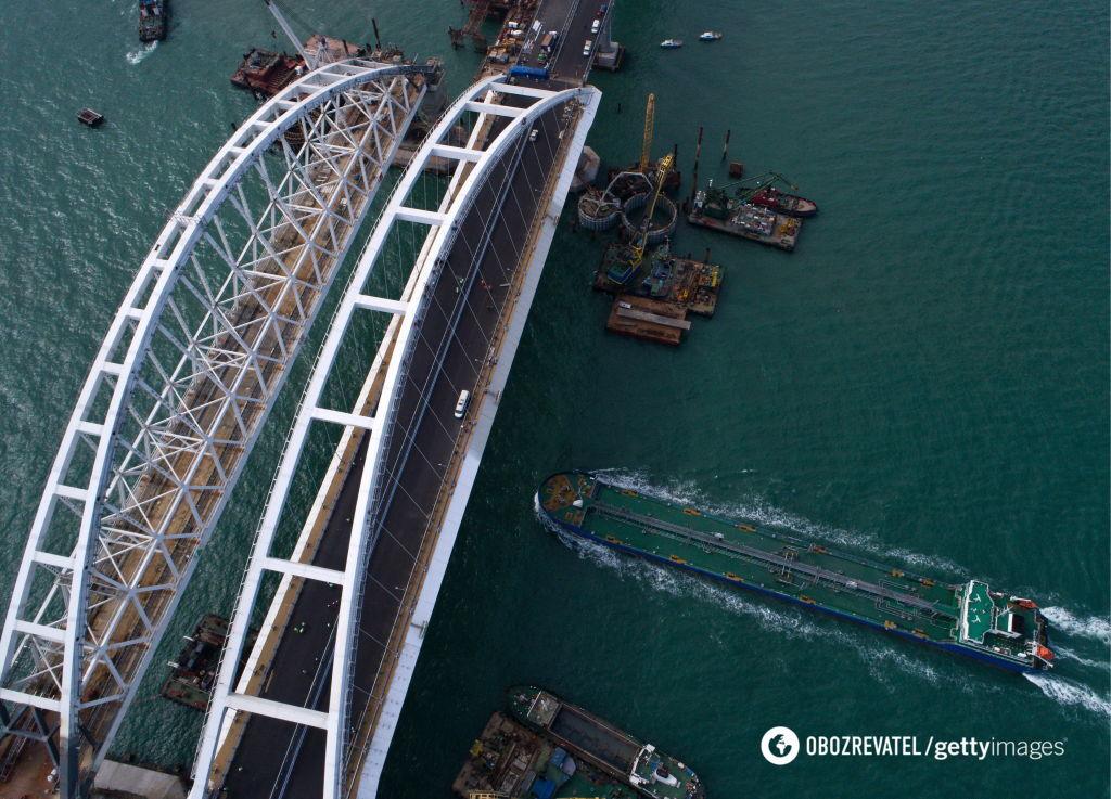 Если Крымский мост рухнет, пострадает все судоходство Азовского моря