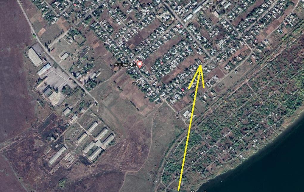Карта, яка підтверджує, що в зоні обстрілу не було ніяких військових об'єктів