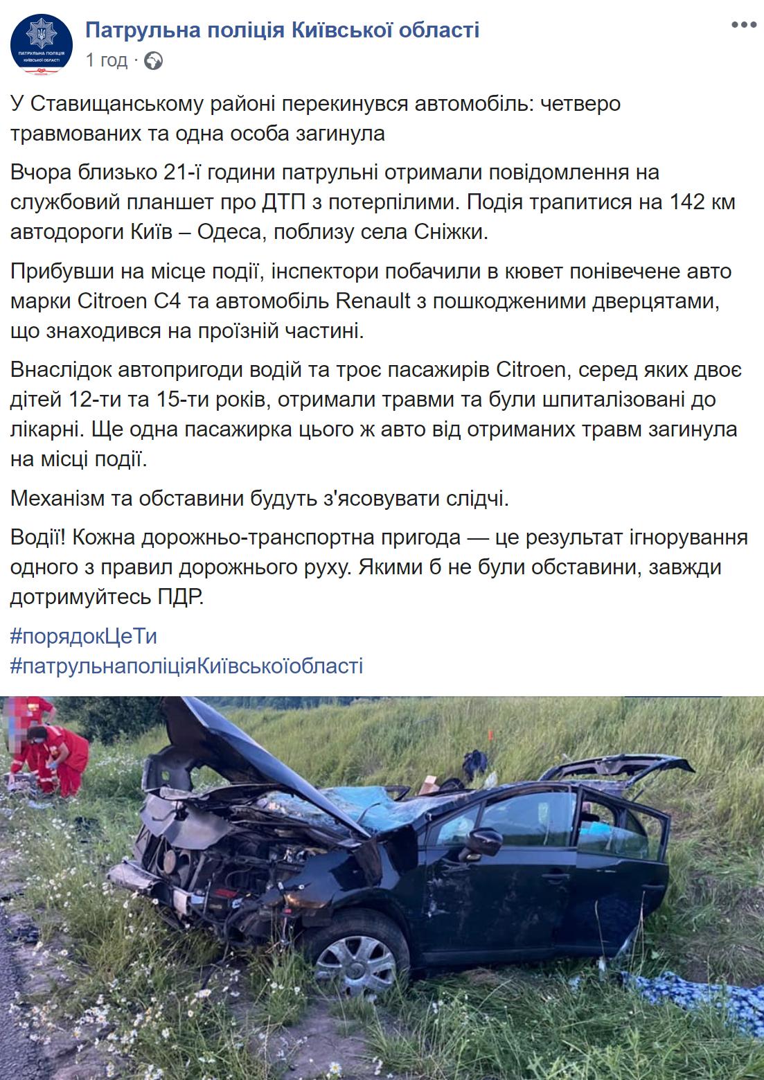 Пост патрульной полиции Киевской области
