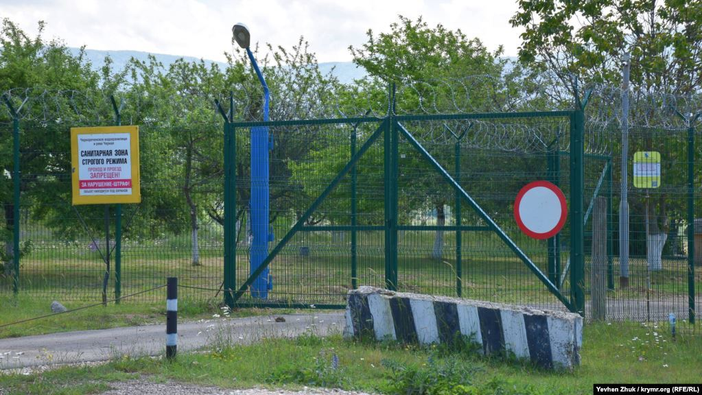 Въезд на Чернореченское водохранилище