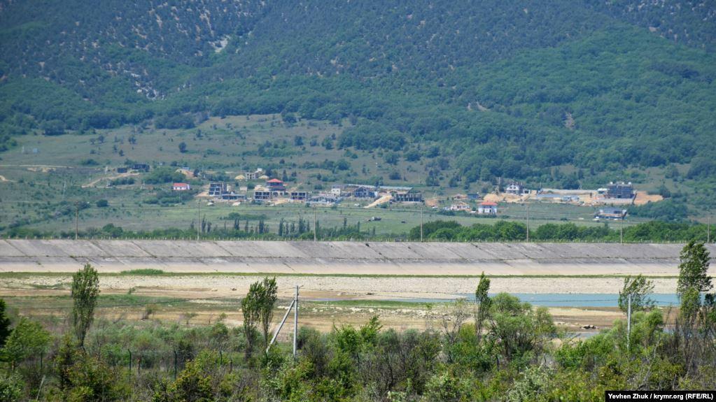 Обмеление Чернореченского водохранилища