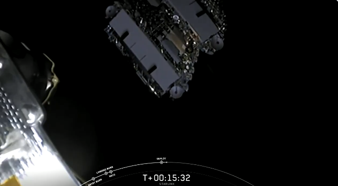 Этап разделения в космосе
